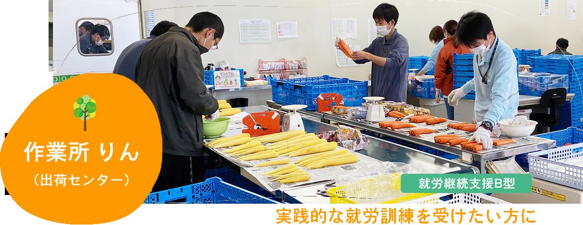 作業所りん(出荷センター)|とれたての新鮮な野菜を全国に届けています